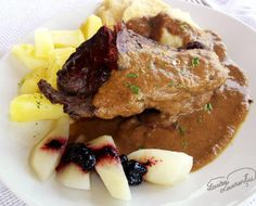 Iepure marinat in vin, la tava In Natura, Steak, Beef, Chicken, Food, Meat, Meals, Ox, Yemek