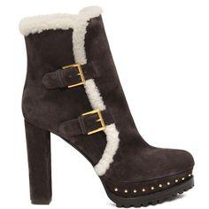 ALEXANDER MCQUEEN   Chaussures   Botte à double boucle avec rason Vetement  De Luxe, Chaussure ff75a7db006