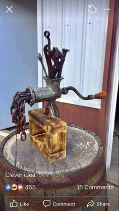 creative scrap metal art #Scrapmetalart