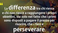 Fare e perseverare