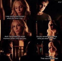 Caroline and Stefan. The Vampire Diaries Season 7 Episode 3