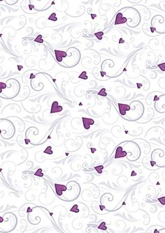 A4 Printed Creative Card Purple Romance