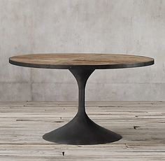 Aero Round Collection | RH  The Table from my client and we can put a stone top inside.