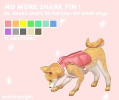 NO MORE SHARK FIN !  –i was kind of sad + mad about there being no OTHER harnesses for small dogs besides the one with the shark fin, and i couldnt find one like this, so i just learned how to edit meshes!  i apologize for any rough edges, this is my...