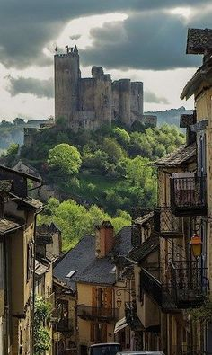 At the Chateau Najac in Aveyron, France.