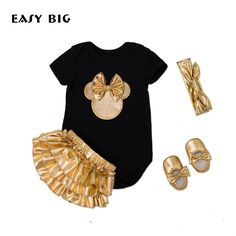 22.26$  Buy now - http://alipcz.shopchina.info/1/go.php?t=32812213316 - 4Pcs/Set Summer Adorable Newborn Baby Girls Sets Infant Jumpsuits+Socks+Shoes+Hair Band Baby Outfit Sets 0-2 Years BC0008  #aliexpress