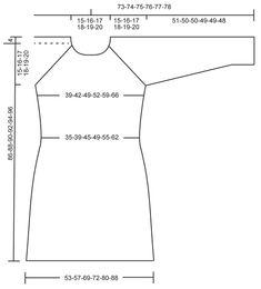 """Blue September / DROPS 165-46 - Kötött DROPS ruha raglán szabással és csipkemintával """"Cotton Merino"""" fonalból Méret: S - XXXL. - Free pattern by DROPS Design"""