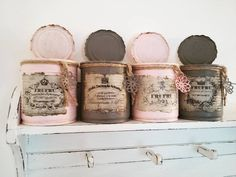 Tin Can Crafts, Diy And Crafts, Flower Farm, Flower Pots, Recycle Cans, Altered Tins, Diy Garden Decor, Upcycled Furniture, Bottle Crafts