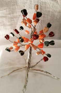 Silver hearts tree by Fyrewired on Etsy