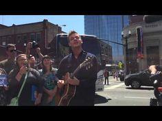 American Idol Contestant, Clark Beckham Plays On the Street