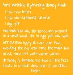 Anti-Wrinkle Hydrating Honey Mask. Your skin will love it! DIY beauty recipe by essensu.