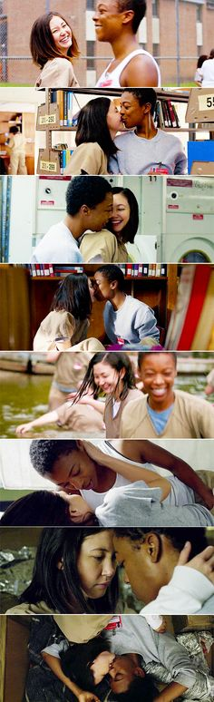"""martinlydias: """"""""Female Awesome Meme Female Dynamics: Brook Soso and Poussey Washington. """"I'd take heart any day. Soso And Poussey, Serie Orange, Samira Wiley, Leo Buscaglia, Welcome To The Family, Junior Year, Netflix, Orange Is The New Black, Scene Photo"""