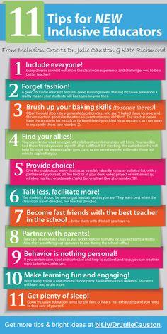 11 tips for new inclusive educators!