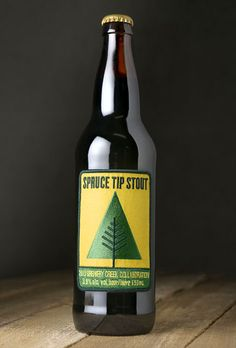 "Spruce Tip Stout Label by St. Bernadine / removable embroidered badge for the primary label / ""badge marketing"""