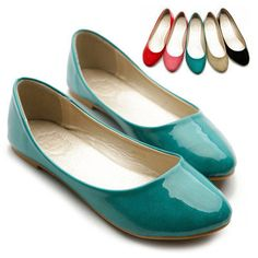glossy ballet flats, $16.99. I'm swooning over that perfect turquoise!