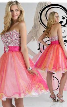 Multi Farben A-line Knie-Länge trägerlosen Kleid