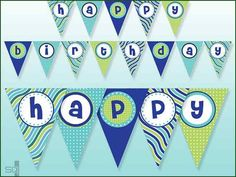 Digital Printable Birthday Banner Digital Happy Birthday Banner Instant Download New York Islanders Hockey Digital Banner