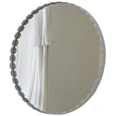 Heart of House Soho Circular Scalloped Wall Mirror - White.
