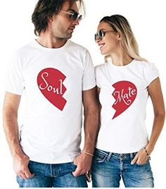 Soul Mate Couple T-Shirts trending t-shirt from our store and get up to off. You will not find this rare t-shirt in any other store, so grab this Limited Time Discount Now! Couple Tees, Matching Couple Shirts, Couple Tshirts, Matching Couples, Matching Outfits, T Shirts For Couples, T-shirt Paar, Couple T Shirt Design, Country Outfits