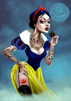 Sexy tattooed snow white