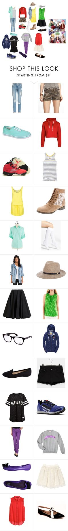 """""""Casual cospla Kuroko no Basket: inspired oufits (GoM + Kagami)"""" by drkittyvonscooper ❤ liked on Polyvore featuring Frame Denim, Express, Boohoo, Superdry, Bench, Jones New York, Nordstrom, Evil Twin, rag & bone and Giambattista Valli"""