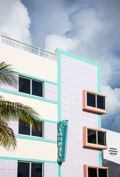 Bunte Fassade am Ocean Drive in Miami South Beach