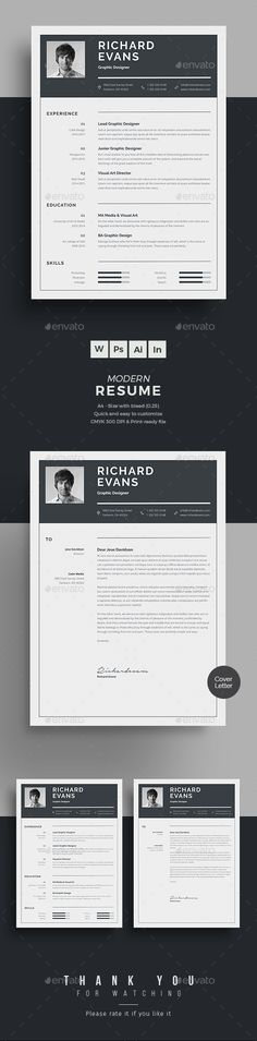 Buy Resume by upra on GraphicRiver. Resume Word Template / CV Template with super clean and modern look. Clean Resume Template page designs are easy to u. College Resume Template, Simple Resume Template, Resume Templates, Best Cv Template, Resume Format In Word, Teaching Resume, Resume Writing, Resume Words Skills, Good Resume Examples