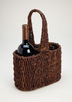 WOODARD & CHARLES Abaca 2-Bottle Wine Carrier