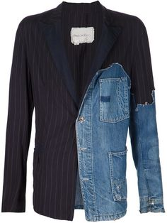 Greg Lauren Patchwork Denim Blazer - The Parliament - Farfetch.com