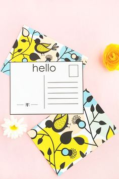 DIY Patterned Postcards - Design your own postcards with pretty patterns and then send them to loved ones. Click through for the tutorial on Maritza Lisa!
