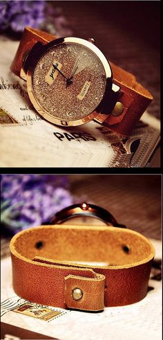 Womens Handmade Vintage Style Watch / Wrist Watch / Leather Band Watch / Jewelry design Watch / Quartz Watch (WAT0006) - Thumbnail 2