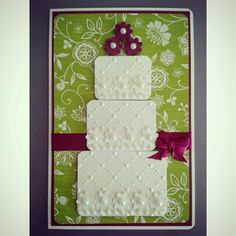 Wedding card / cake , handmade