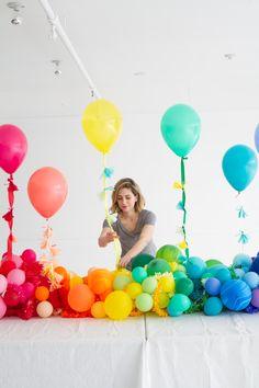 #Rainbow Balloon #BabyShower