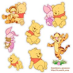 Baby Pooh and friends Pooh Baby, Cute Winnie The Pooh, Winnie The Pooh Birthday, Printable Stickers, Cute Stickers, Planner Stickers, Baby Disney Characters, Tatty Teddy, Cute Disney Wallpaper