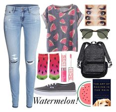 """""""Back to school"""" by aleigha-5sosfan ❤ liked on Polyvore featuring H&M, Forever 21, Vans, Ray-Ban, Victoria's Secret, Accessorize and BackToSchoolwithaleigha"""