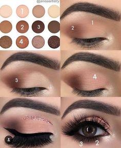 68 Ideas For Eye Makeup Step By Step Eyeliner Make Up - Makeup İdeas Fairy Eye Makeup Steps, Simple Eye Makeup, No Eyeliner Makeup, Hair Makeup, Hair Or Makeup First, Eyeshadow Steps, Eyeliner Ideas, Nice Makeup, Eyeliner Pencil