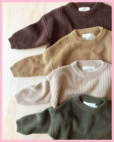OUR FOLK on ONLINE this morning! A few questions about the knits. I would recommend getting the size your child would usually wear, but if you Fashion Kids, Baby Girl Fashion, Toddler Fashion, Fashion Spring, Fashion Design, Baby Outfits, Toddler Outfits, Cute Babies, Baby Kids