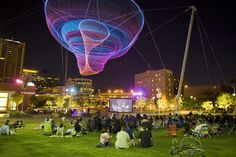 Civic Space Park in Phoenix, Arizona: one of many things to do while visiting this beautiful city! View travel nursing jobs in Phoenix at www. The Places Youll Go, Places To Go, Janet Echelman, Downtown Phoenix, Arizona Travel, Arizona Trip, Arizona State, Travel Nursing, Nursing Jobs