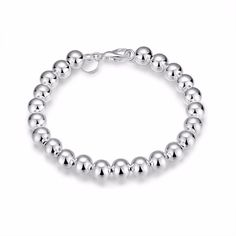 Silver Plated Beads Fashion Lady Hand Chain Style Bracelet Charm Bangle Jewelry #Unbranded #Chain