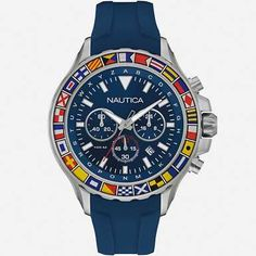 90f366890a34 The Nautica Men s NST 1000 CHRONOGRAPH SIGNAL FLAG SPORT WATCH. The  charisma of this watch
