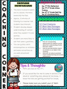 Editable Instructional Newsletter Template For Principals And
