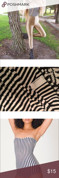 American Apparel Stripe Bodysuit American Apparel Pinstripe Bodysuit - Worn once, stretchy cotton material - suitable for size small/extra small - cheeky bottom American Apparel Tops