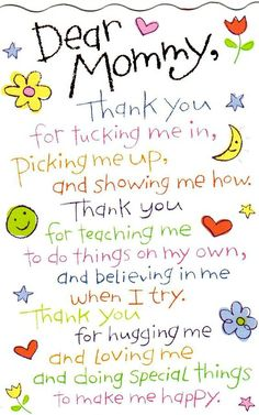 Poem to mommy, letter to mom, Happy mothers day quotes from daughter, Best messages on mommy from beloved daughter.Happy mothers day quotes from son mom wishes Mothers Day Crafts For Kids, Mothers Day Cards, Mothers Love, Mothers Day Special, Gift Quotes, Mom Quotes, Short Quotes, Wisdom Quotes, Child Quotes
