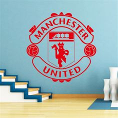 Manchester Logo, Manchester England, Manchester United Football, World Football, Wall Stickers Home, The Unit, Decals, Home Decor, Sofa