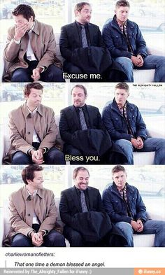 I have probably saved this a few times but every time I see Jensen face in the last pic I can't help but love it