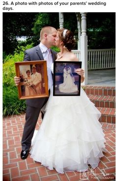 Wedding- so cute they both have pictures of their parents big day this is a must have