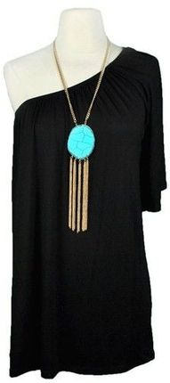 love the necklace... with chunky bangles and a pretty turquoise ring.