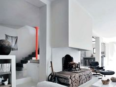 Modern traditional Casual House interiors 3, fireplace