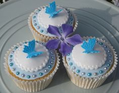 'Something Blue' Wedding Cupcakes 1 by Louby's of Reigate, via Flickr