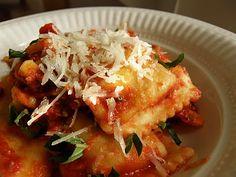 Kimberly's crockpot ravioli